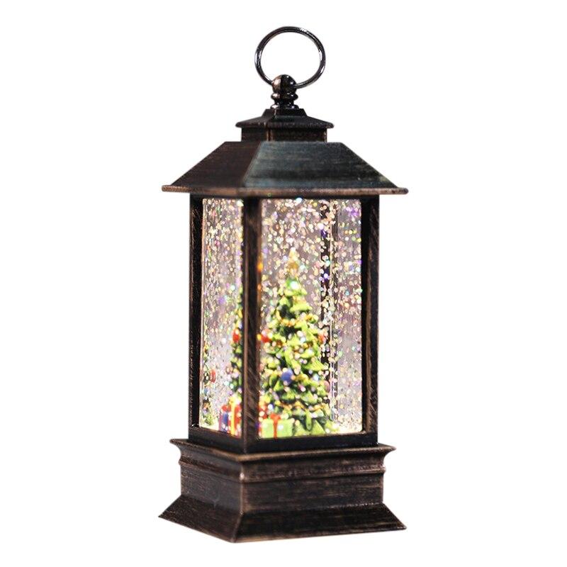 Самый лучший подарок светодиодный Рождественские Кристальные стаканы под огни поворачивает блеск Рождество маленький Фонари Батарея-на солнечных батареях лампа HYD88