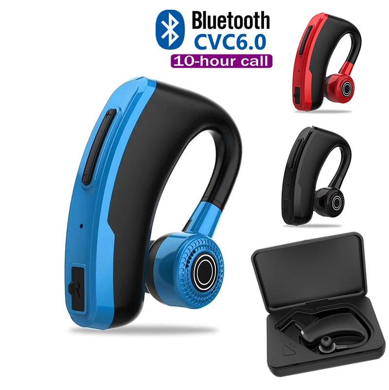 2019 Nova V10 Negócios Bluetooth comando de Voz Fone De Ouvido Handsfree Fone de Ouvido com Microfone de Carregamento Rápido para Iphone 11 Pro mAX