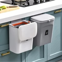 7l 9l kitchen trash can wall mounted garbage cans with lid waste bin recycle rubbish bin kitchen recycle dustbin trash bin