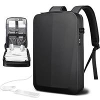 hard shell 15 6 inch computer handbag men backpack waterproof usb charging tsa customs code lock luggage laptop tablet tote bag