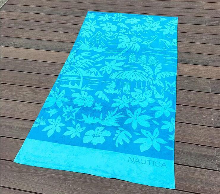 Toalla de playa de verano de 170x90cm, Toalla de baño estampada, toalla grande de algodón para vacaciones
