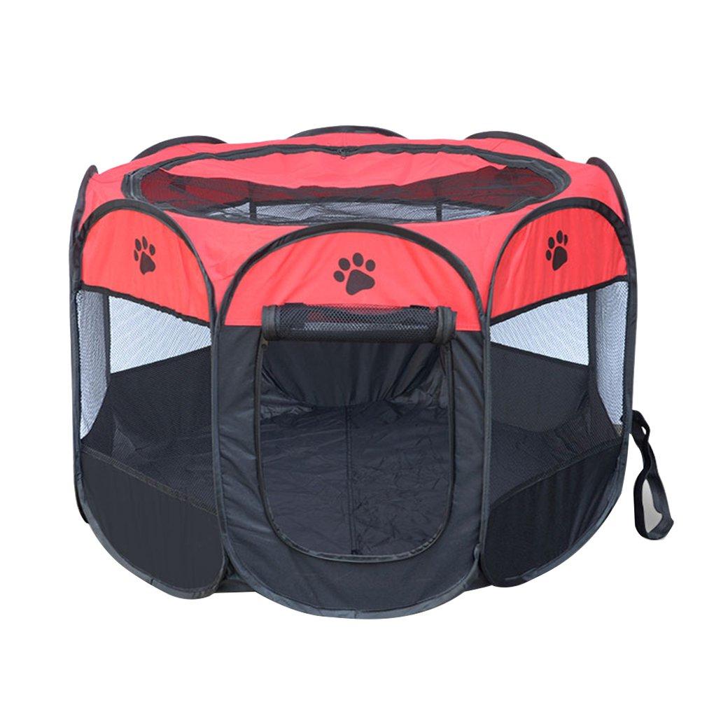Jaula portátil para mascotas, transpirable, cerca plegable para perros, cerca Oxford, tela impermeable, duradera, tienda para perros