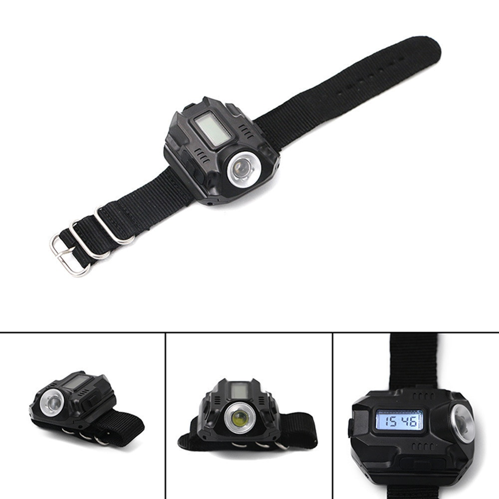 LED Flashlight Wrist Light High Power Rechargeable Night Watch Army Torch XPE Q5 R2 LED For Camping Outdoor Portable Lantern enlarge