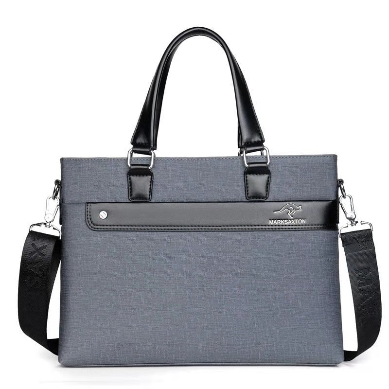 Men\s Handbag Briefcase New Trendy Bag Fashion Business Single Sshoulder Bbag Oblique Satchel Leisure