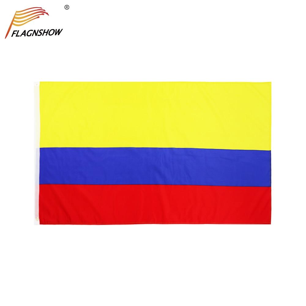 Флаг Колумбии Flagnshow, 3X5 футов, подвесные флаги колумбийских стран, полиэстер с латунными кольцами, 3x5 футов, флаг для украшения