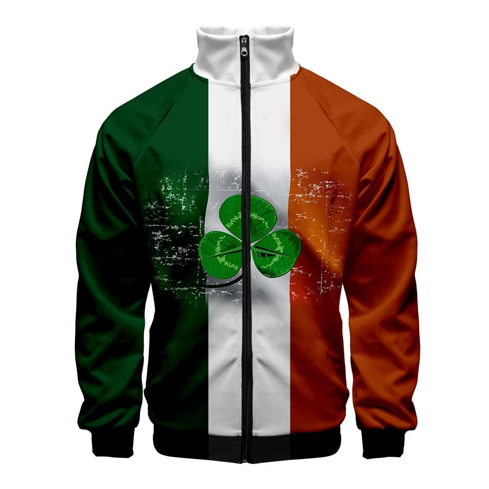 2021 moda quente estilo liverpool personalidade casaco irlandês verde impressão figura masculino geral de alta qualidade jaqueta moletom com capuz