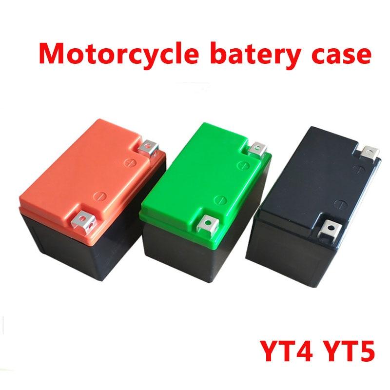 5 unids/lote caja batería motocicleta 12v 4ah 5ah 6v 4ah 7ah etc. batería de litio ABS funda ebike 18650 celdas de plástico