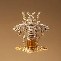 brand new 4pcs european pure brass bee furniture handles drawer pulls cupboard wardrobe kitchen tv shoe cabinet pulls knobs