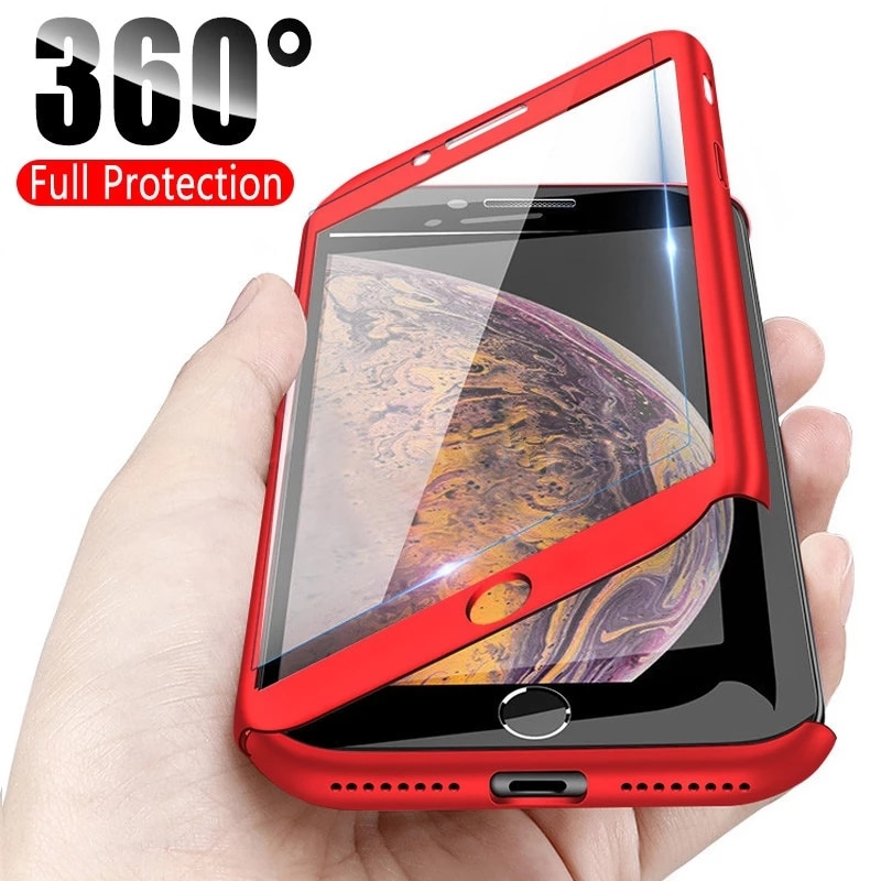 Coque For Xiaomi mi 8 Case 360 Full Cover With Tempered Glass For Xiaomi Redmi note 6 pro Note 5 A1