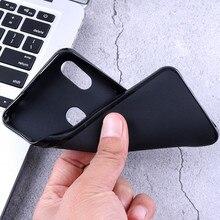 Caixa do telefone para Motorola Moto Uma Visão Hiper Poder Ação P50 E6S E 2020 G8 Stylus G Pró Rápido Preto capa de Silicone Capa Mole