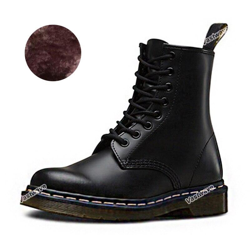 Кожаные ботинки унисекс для влюбленных мужчин, кожаные ботинки с мехом, теплая обувь, мужские парные женские ботильоны, большие размеры, жен...