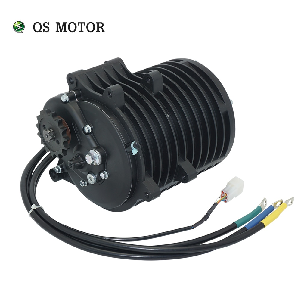 QS Motor 138 3000W V3 70H 5500W Max Continuous 72V 100KPH Mid Drive Motor With EM150-2SP Controller Conversion Kit For E-Bike enlarge