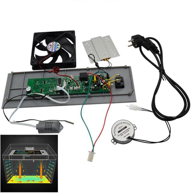 Regulador higrostato de termostato DIY para incubadora de huevos, incubadora casera, controlador de temperatura y humedad con ventilador