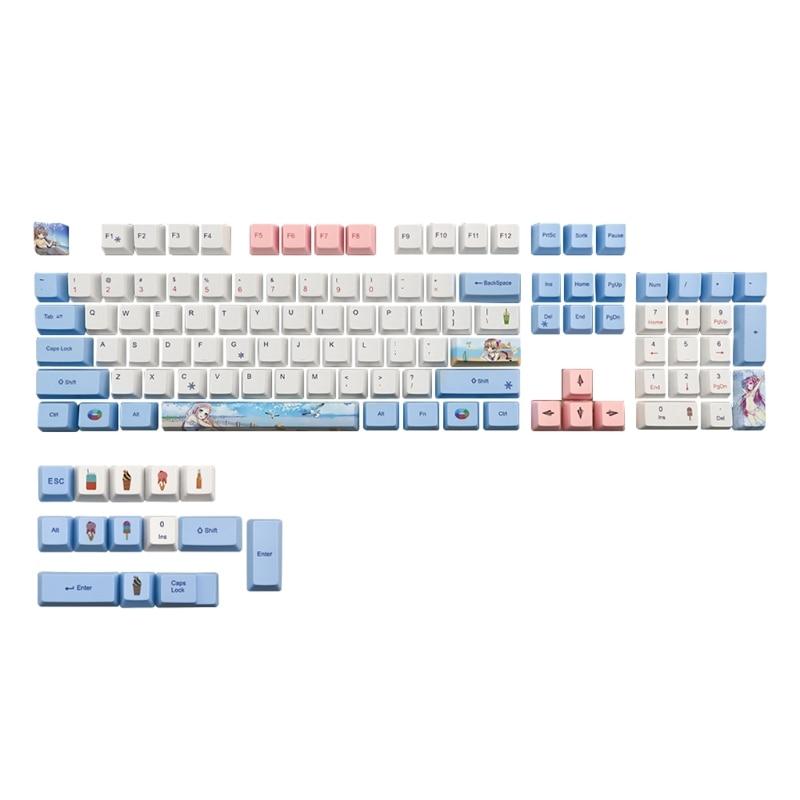 كيكابس PBT القياسية صبغ التسامي عملية Keycap 118 مفاتيح OEM الشخصي ل الكرز MX التبديل لوحة المفاتيح الميكانيكية