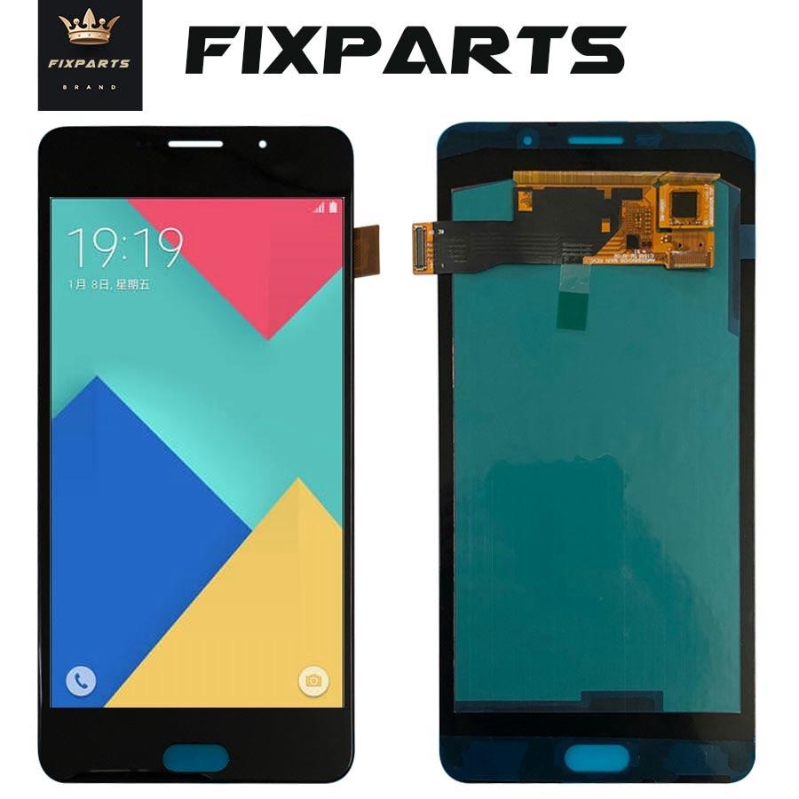 Para samsung galaxy a9100 lcd a9 pro a9 2016 a910f display touch screen digitador assembléia substituição a910 para samsung a910 lcd