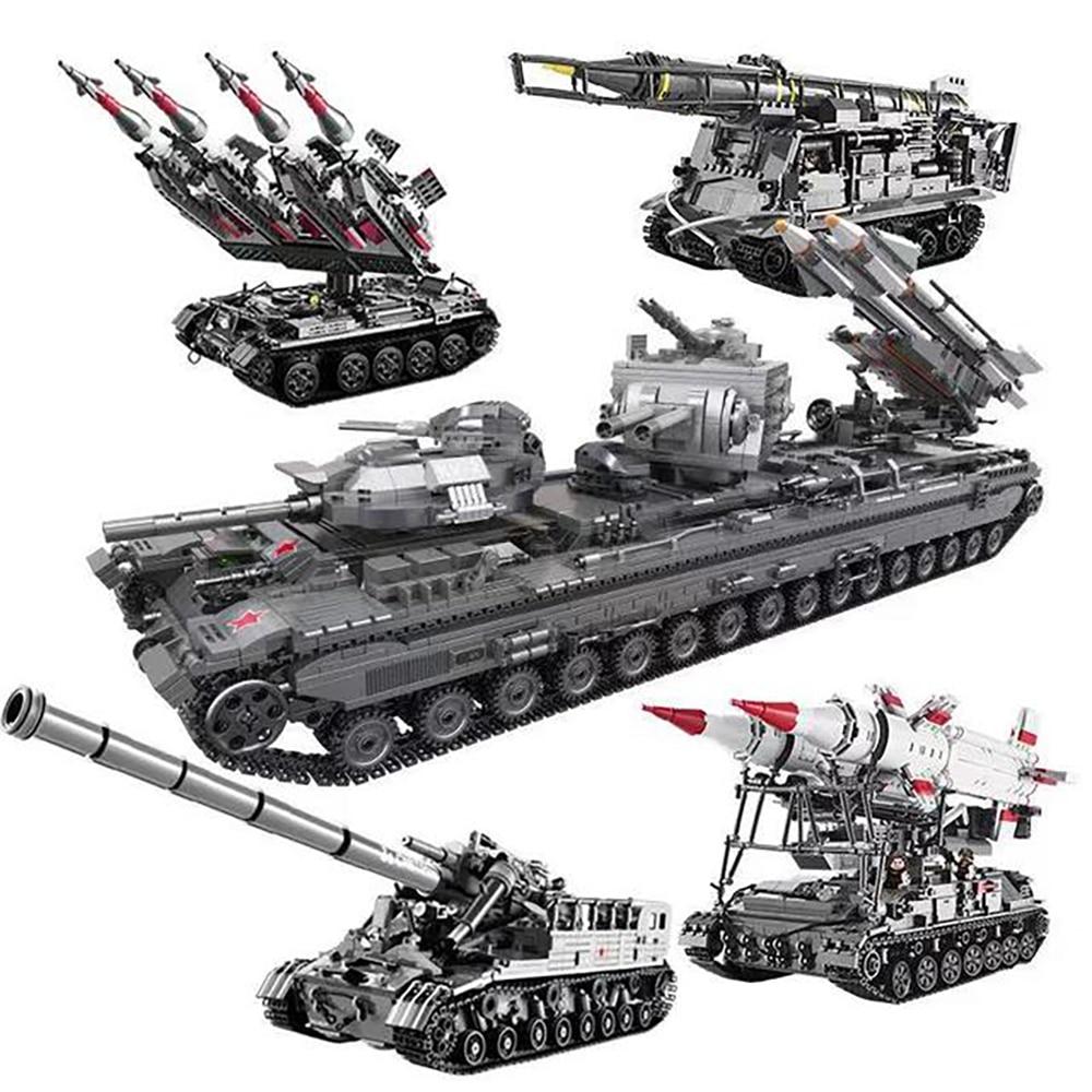 Nuevo 06001-07 militar serie T92 tanque SA-3 misil WW2 bloques de construcción ladrillos MOC Compatible Lepins juguetes para niños regalo