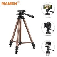 MAMEN 42-125cm Professional Tripod Floor Stand With Remote Control For Digital Video Gopro Camera For iOS Android Phone Tripod
