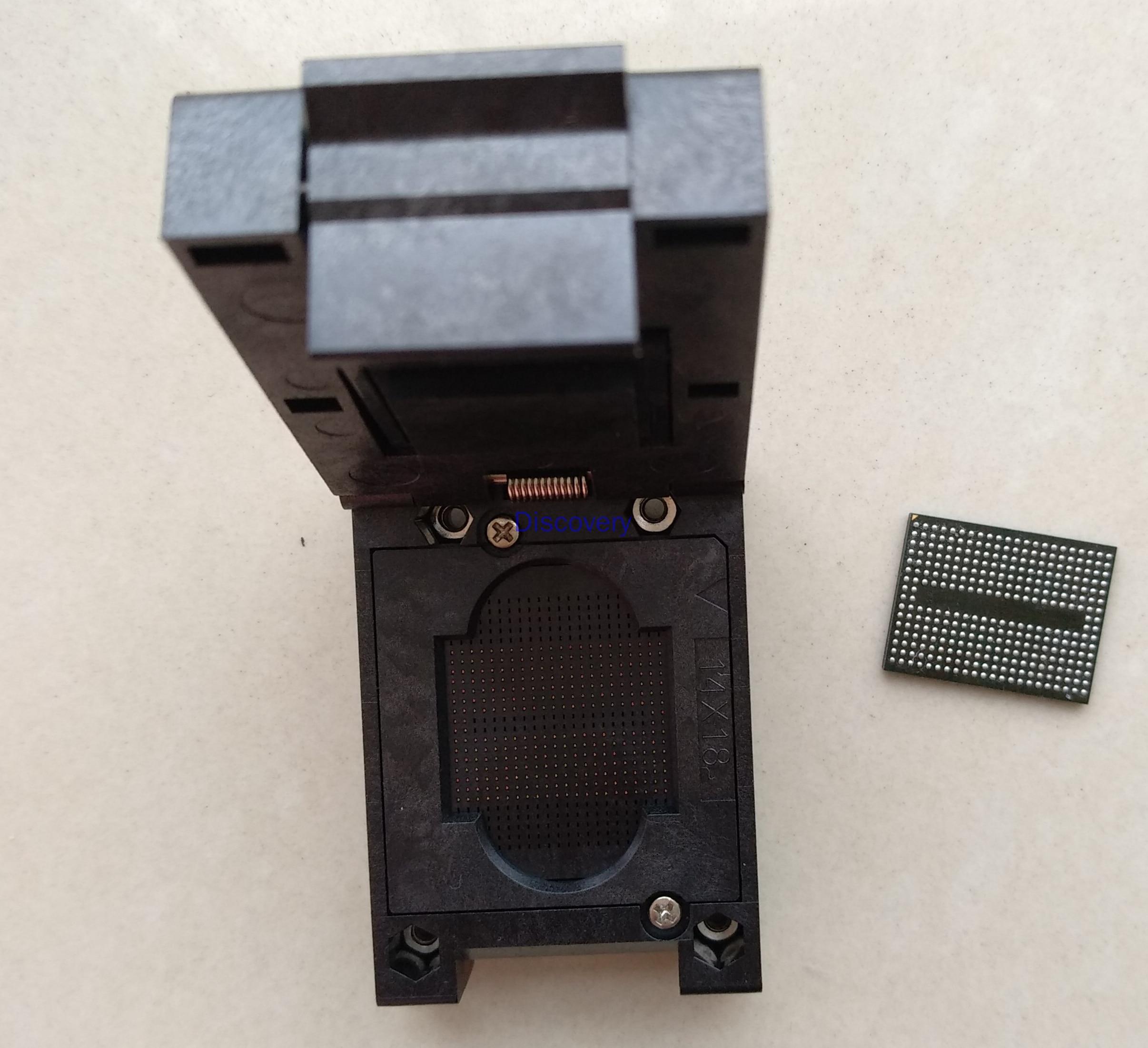 BGA316 المقبس NAND ذاكرة فلاش حرق في المقبس اختبار حرق المقبس فلاش SSD عالية التردد اختبار المقبس