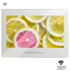 Souria 32 дюйма волшебное зеркало Android 7,1 роскошное умное светодиодное ТВ отель ТВ WIFI Full HD 1080P Душ водонепроницаемый