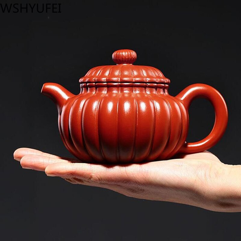 WSHYUFEI-إبريق شاي من الطين الأرجواني Yixing ، خام ، طين أرجواني Dahongpao ، طقم شاي مصنوع يدويًا ، طقم شاي Zisha ، أواني شرب 300 مللي