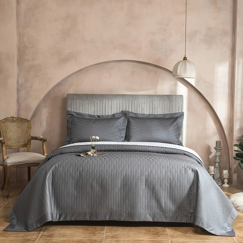 مفرش سرير من القطن المصري 1000TC ، رمادي ، أبيض ، أصفر ، أزرق ، طقم بطانية ، ملاءة سرير ، تنورة وسادة