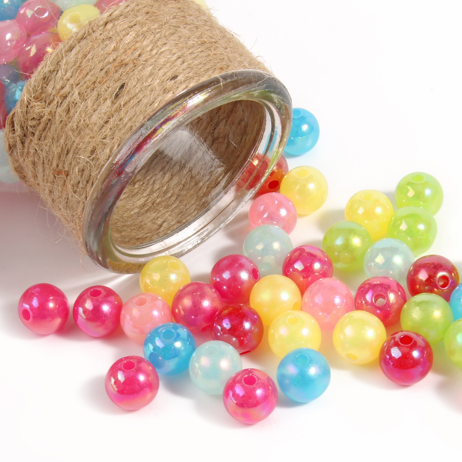 6-14mm Candy Color AB Acrylic Round Beads 20-300Pcs Loose Spacer Seed Beads For Jewelry Making Handmade DIY Bracelet Necklace 6 14mm candy color ab acrylic round beads 20 300pcs loose spacer seed beads for jewelry making handmade diy bracelet necklace