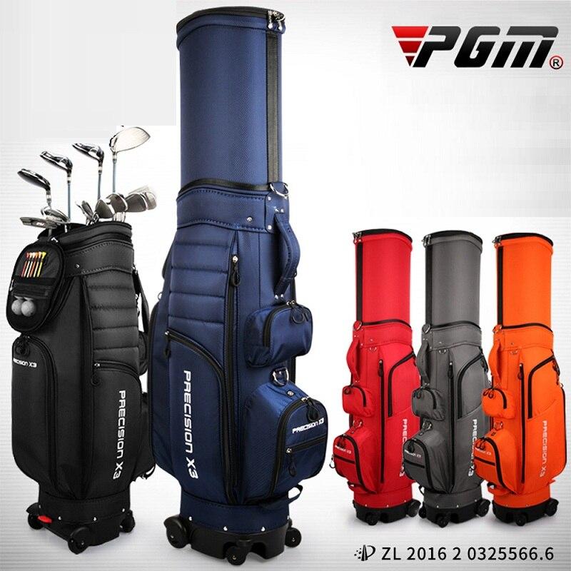 PGM multifuncional Golf estándar bolsa con ruedas Golf Caddy Viation bolsa retráctil soporte bola paquete polea Golf bolsa D0848