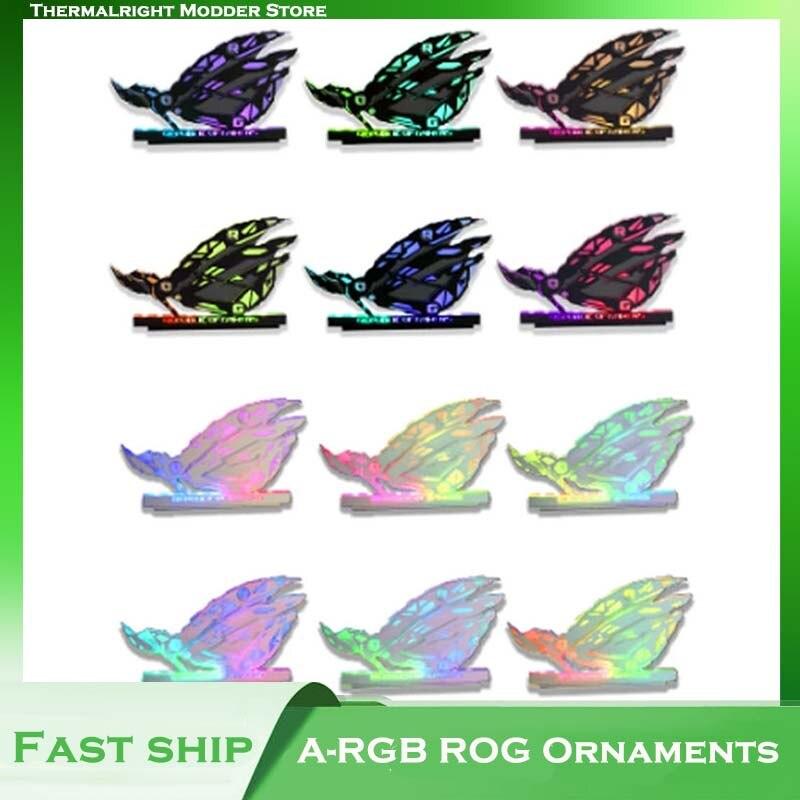 RGB يدوية الصنع الحلي اللاعبين اللاعبين لتقوم بها بنفسك وحدة معالجة خارجية للحاسوب ، ROG العلامة التجارية الإيمان هدية ، Modding العين الميكانيكية...