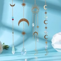 crystal wind chimes star moon pendant rainbow wind chime hanging prism ornament patio garden prism wedding chandelier decor