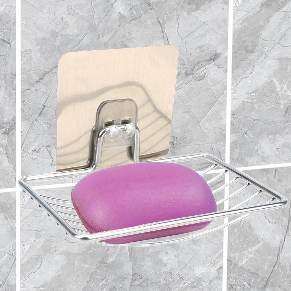 ITimo porte savon inox rangement mural support étagères salle de bain plateau accessoires porte savon étagère maison salle de bain rangement