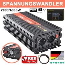 Onduleur modifié à onde sinusoïdale 2000/4000W, 12v 4000 v, 220 W, pour voiture, convertisseur de puissance, sans fil, transformateur