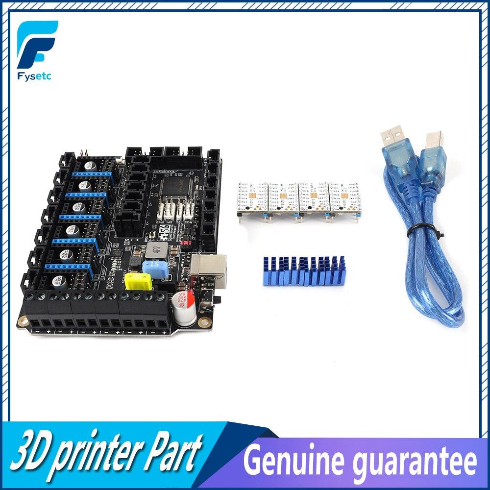 Плата управления S6 V2.0 32 бит с 4 шт. Драйвер шагового двигателя TMC2208 UART, летающий провод, соединитель MX VS F6 V1.3 SKR V1.3