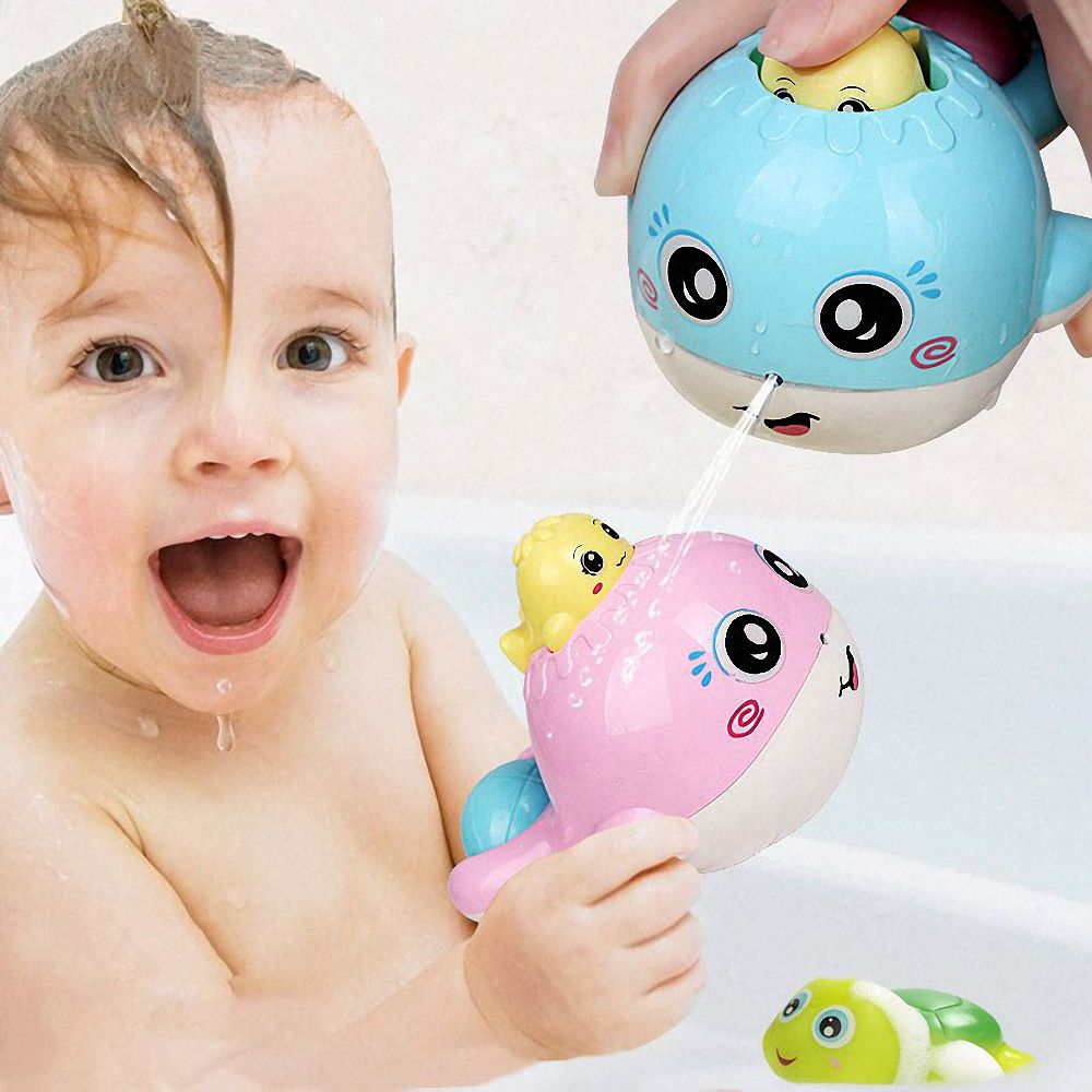 1pc Animal Cartoon Bathing Beach Floating Water Spray Educational Toys for Children Baby Bath Shower Products In The Bathroom
