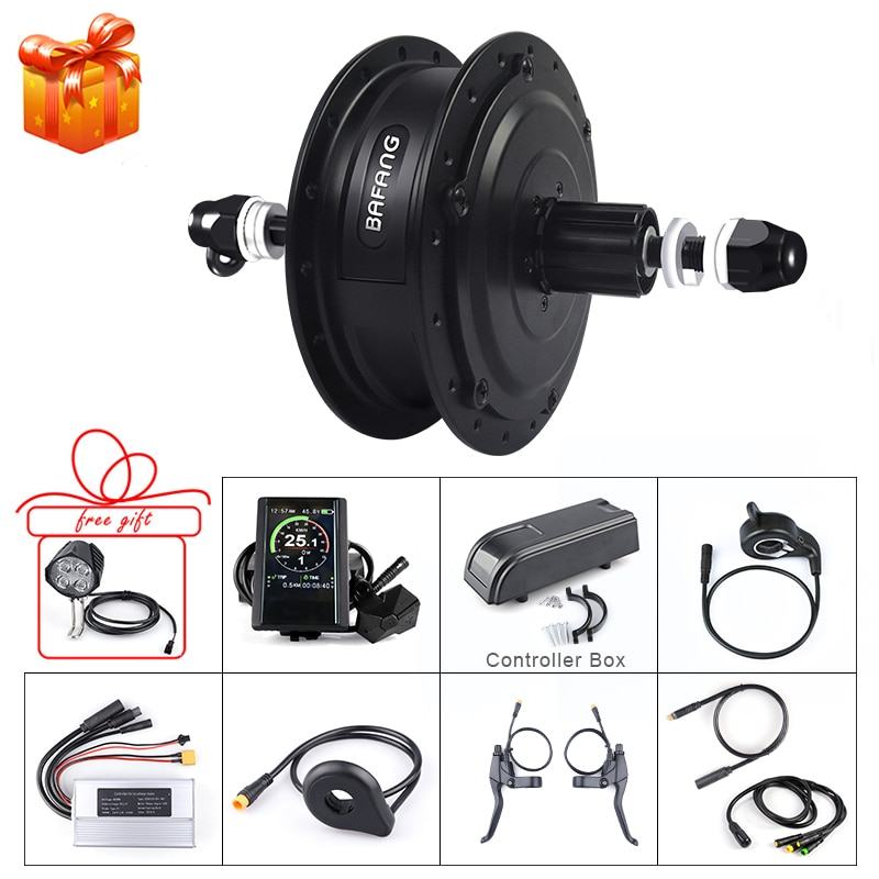 Kit de conversión de bicicleta eléctrica Bafang 48V 500W para 20 26 27,5 28 700C ruedas disco V freno bicicleta eléctrica DIY G020.500