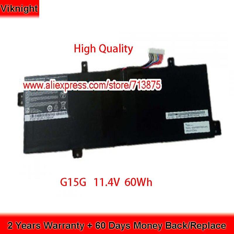 Brand New 11.4V 60Wh G15G Battery for Thunderobot 911 Targa B5Ta T5TB T6a T6b T6c Laptop