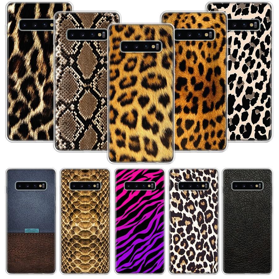 Funda de pantera con estampado de leopardo y tigre para Samsung Galaxy A51, A71, A50S, A10, A20E, A30, A40, A70S, A90, M30S, A01, A21, A6, A7, A8, A9 Plus + teléfono