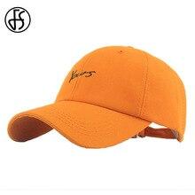 FS own-chapeau brodé Streetwear   Chapeau dété pour hommes et femmes, casquettes en coton Orange pour dames, Snapback de camion pour papa, Gorras Mujer