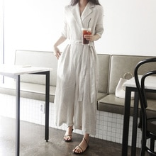 2021 Fashion Jumpsuit Temperament Casual Loose Wide Leg Simple Elegant Belt High Waist Pocket Solid