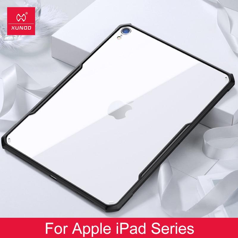 Para ipad 2018/2017 pro 11 12.9 ar 2 9.7 ar 3 10.5 polegada para ipad mini 1 2 3 4 5 xundd acrílico + tpu capa protetora tablet
