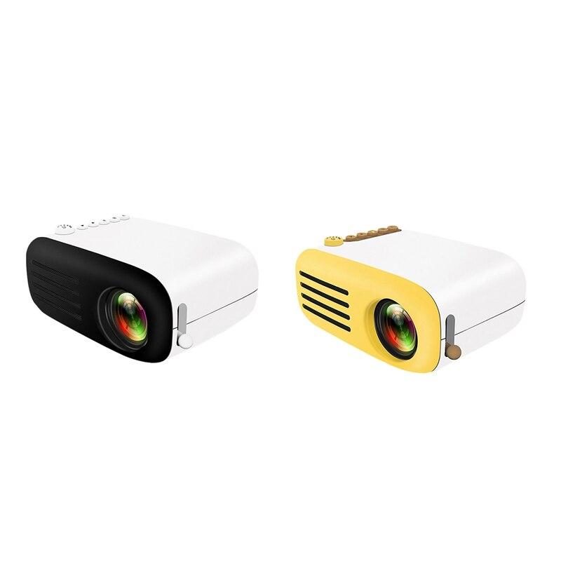 جهاز عرض صغير محمول FHD 1080P اللون LED الكرتون الإسقاط مع المدمج في مكبرات الصوت للمنزل السمعية البصرية