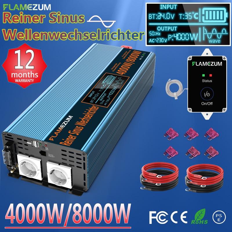 Reine Sinus-wechselrichter 1000W 2000W 3000W 4000W 5000W 6000W 7000W 8000W DC12V/24V/48V ZU 120V 220V 230V 240V & Fernbedienung