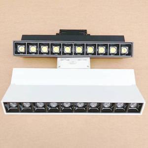 Dimmable Led Track Light Spotlights 220V Track Lamp 20W Aluminum Track Rail Lighting For Home Shop Spot Light