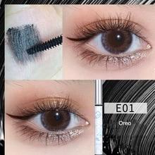 Mascara Superfine Brush Head Waterproof Fast Dry Eyelashes Curls Extension Make-Up Eyelashes Blue Pu
