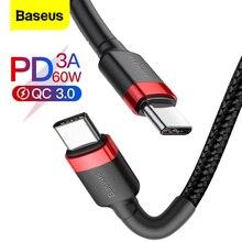 Baseus, USB tipo C a USB, Cable tipo C para Samsung S8 S9 Plus, teléfono móvil Xiaomi PD 60W QC3.0 3A, Cable de carga rápida para tipo C