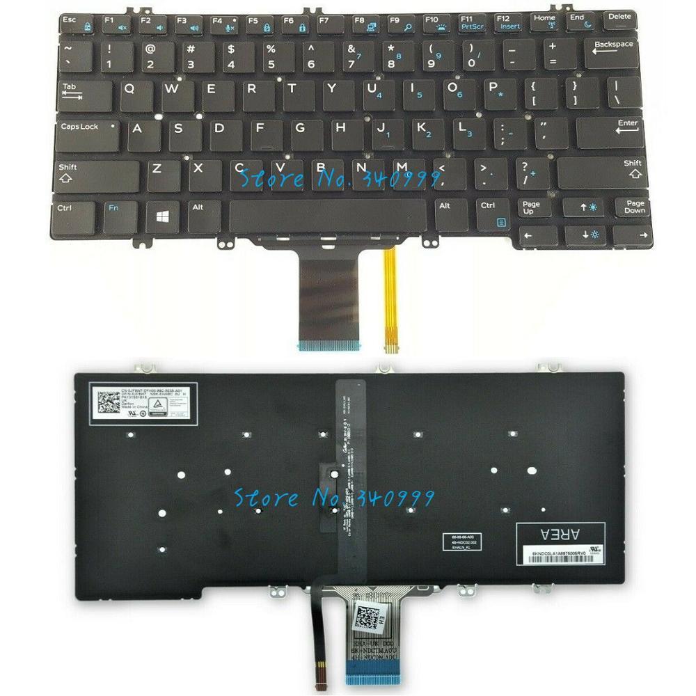 Nuevo para Dell Latitude 7280 7380 5289 5280 teclado estadounidense retroiluminado 0NPN8