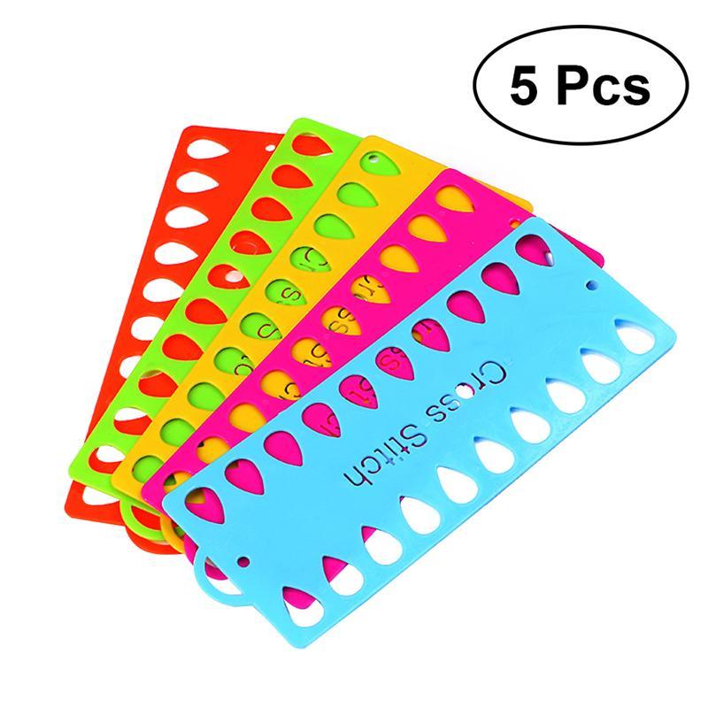 5 uds organizador de hilo dental hilo de bordar proyecto tarjeta de almacenamiento titular de la herramienta de punto de cruz para costura con aguja de tejer Color al azar
