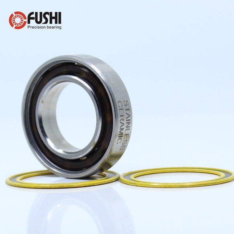 6903-2RS Stainless Bearing 17*30*7 mm ( 1 PC ) ABEC-3 6903 RS Bicycle Hub Front Rear Hubs Wheel 17 30 7 Ceramic Balls Bearings enlarge