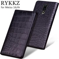 luxury genuine flip leather case for meizu 16 flip cover handmake leather cases for meizu 16th 16 xs case