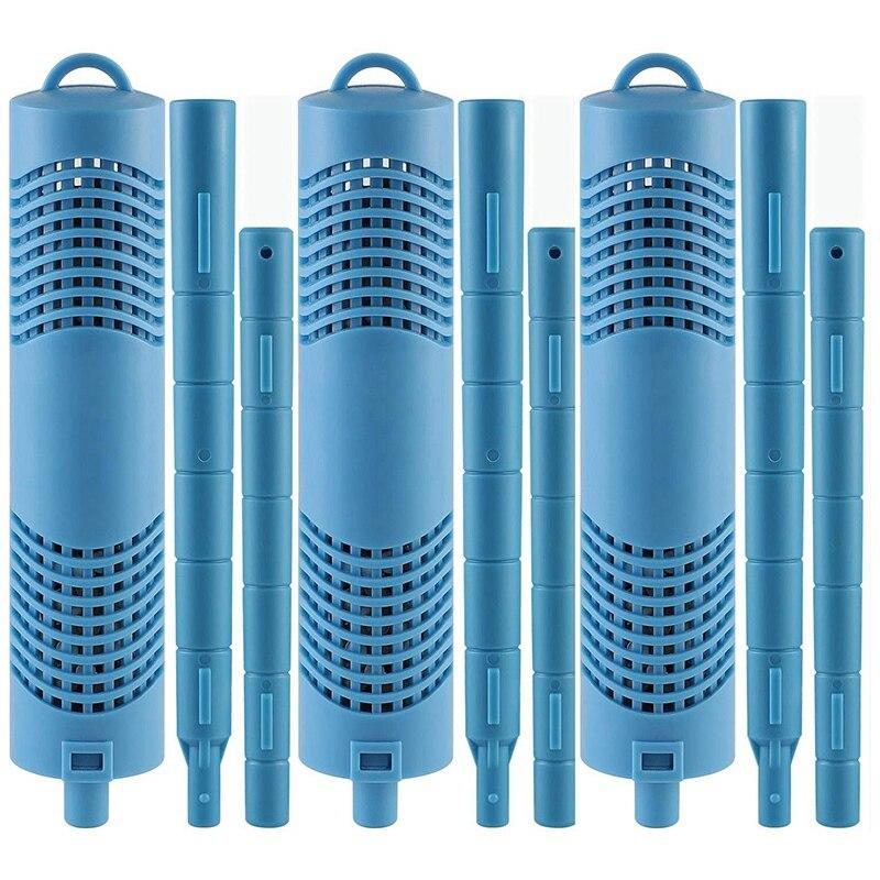 أجزاء العصي المعدنية لخرطوشة تصفية حوض استحمام ساخن ، تستمر لمدة 4 أشهر ، الأزرق
