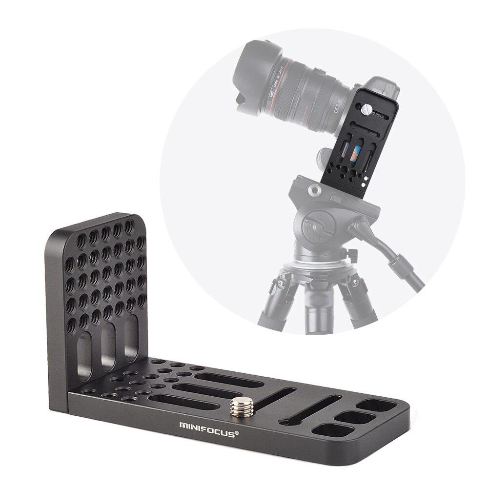DSLR cámara L soporte Vertical Horizontal Cambio de cabeza de trípode soporte de placa de liberación rápida para cardán estabilizador videocámara